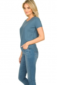 JC Sophie |  Sweater with short sleeves Carole | blue  | Picture 4
