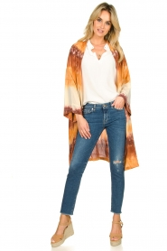 Rabens Saloner |  Tie dye kimono Maide | orange  | Picture 3