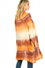 Rabens Saloner |  Tie dye kimono Maide | orange  | Picture 6