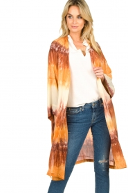 Rabens Saloner |  Tie dye kimono Maide | orange  | Picture 4