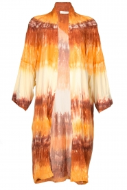 Rabens Saloner |  Tie dye kimono Maide | orange  | Picture 1
