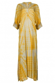 Rabens Saloner |  Tie dye kaftan dress Malene | grey  | Picture 1