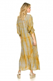 Rabens Saloner |  Tie dye kaftan dress Malene | grey  | Picture 6