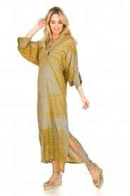 Rabens Saloner |  Tie dye kaftan dress Malene | grey  | Picture 4