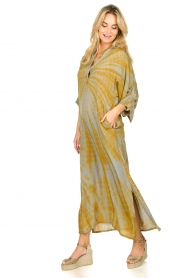 Rabens Saloner |  Tie dye kaftan dress Malene | grey  | Picture 3