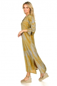Rabens Saloner |  Tie dye kaftan dress Malene | grey  | Picture 5