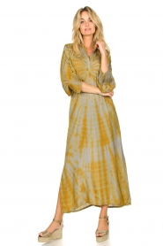 Rabens Saloner |  Tie dye kaftan dress Malene | grey  | Picture 2