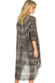 Rabens Saloner |  Cotton tie-dye dress Klara | grey  | Picture 5