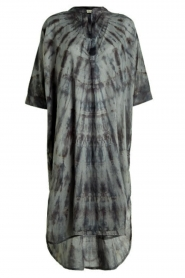 Rabens Saloner |  Cotton tie-dye dress Klara | grey  | Picture 1