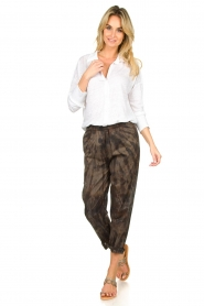 Rabens Saloner |  Cotton tie dye pants Lily | grey  | Picture 3