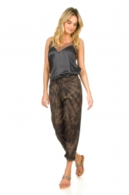 Rabens Saloner |  Cotton tie dye pants Lily | grey  | Picture 4