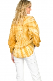 Rabens Saloner |  Tie-dye blouse Majbrit | yellow  | Picture 7