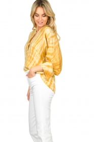 Rabens Saloner |  Tie-dye blouse Majbrit | yellow  | Picture 6