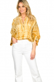 Rabens Saloner |  Tie-dye blouse Majbrit | yellow  | Picture 5
