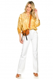Rabens Saloner |  Tie-dye blouse Majbrit | yellow  | Picture 3