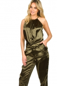 Rabens Saloner |  Metallic top Anuki | green  | Picture 2