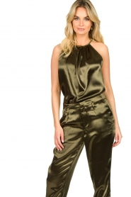 Rabens Saloner |  Metallic top Anuki | green  | Picture 4