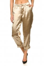 Rabens Saloner    Metallic pants Anya   gold    Picture 4