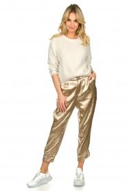Rabens Saloner    Metallic pants Anya   gold    Picture 3
