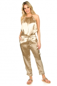 Rabens Saloner    Metallic pants Anya   gold    Picture 2