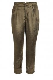 Rabens Saloner |  Metallic pants Anya | green  | Picture 1