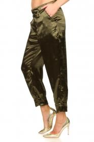 Rabens Saloner    Metallic pants Anya   green    Picture 5