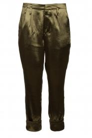 Rabens Saloner    Metallic pants Anya   green    Picture 1