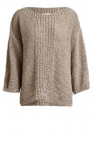 Rabens Saloner |  Chunky knitted sweater Delhlia | camel  | Picture 1