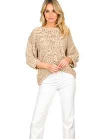Rabens Saloner |  Chunky knitted sweater Delhlia | camel  | Picture 4