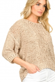 Rabens Saloner |  Chunky knitted sweater Delhlia | camel  | Picture 7