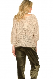 Rabens Saloner |  Chunky knitted sweater Delhlia | camel  | Picture 6