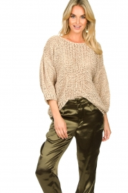 Rabens Saloner |  Chunky knitted sweater Delhlia | camel  | Picture 2