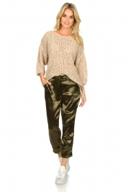 Rabens Saloner |  Chunky knitted sweater Delhlia | camel  | Picture 3