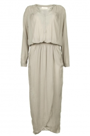 Rabens Saloner |  Maxi dress with pleats Kim | grey  | Picture 1