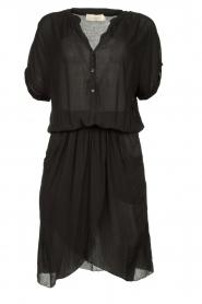 Rabens Saloner |  Dress with pleats Kiara | black  | Picture 1
