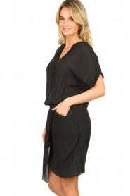 Rabens Saloner |  Dress with pleats Kiara | black  | Picture 4