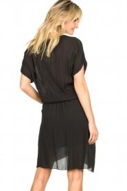 Rabens Saloner |  Dress with pleats Kiara | black  | Picture 5
