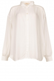 Rabens Saloner | Oversized blouse Resemary | wit  | Afbeelding 1