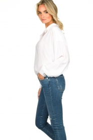 Rabens Saloner | Oversized blouse Resemary | wit  | Afbeelding 5