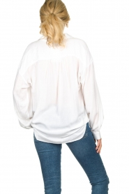 Rabens Saloner | Oversized blouse Resemary | wit  | Afbeelding 7
