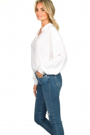Rabens Saloner | Oversized blouse Resemary | wit  | Afbeelding 6