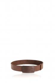 Rabens Saloner    Leather belt Sibilla   brown    Picture 1