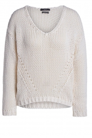 Set |  Chunky knitted sweater Liza | white  | Picture 1
