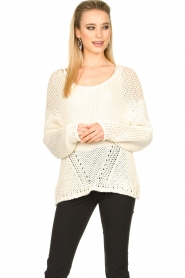 Set |  Chunky knitted sweater Liza | white  | Picture 2