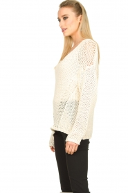 Set |  Chunky knitted sweater Liza | white  | Picture 4