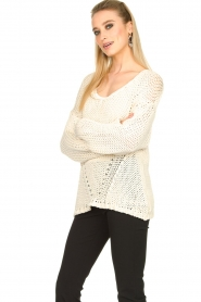 Set |  Chunky knitted sweater Liza | white  | Picture 5