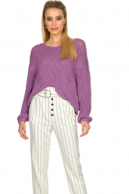 Set |  Chunky knitted sweater Liza | purple  | Picture 5