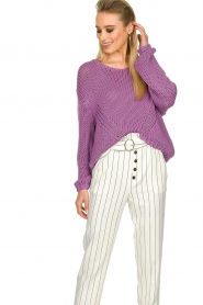 Set |  Chunky knitted sweater Liza | purple  | Picture 2