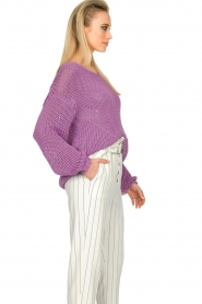 Set |  Chunky knitted sweater Liza | purple  | Picture 6