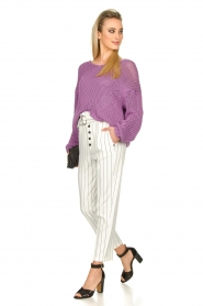 Set |  Chunky knitted sweater Liza | purple  | Picture 3